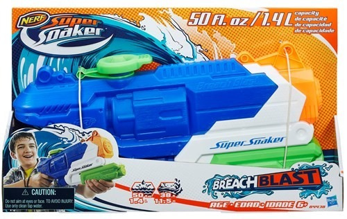nerf agua super soaker breach blast original nueva - maxx!
