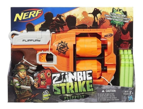 nerf flipfury pistola juguete zombie strike hasbro educando