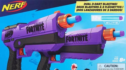 nerf fortnite dual guns 3-dart blasting