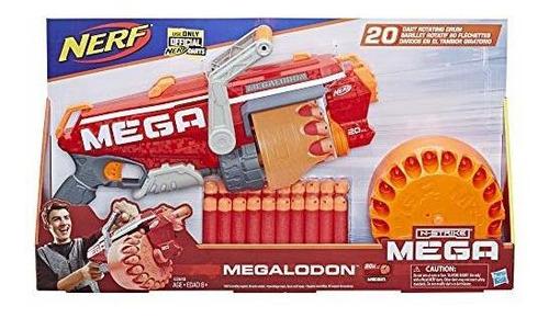 nerf megalodon n strike mega blaster  lanzador con 20 dardos