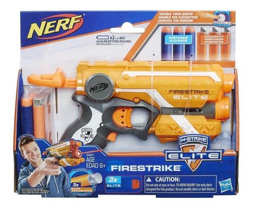 nerf n-strike elite firestrike modelo e0441 incluye 6 dardos