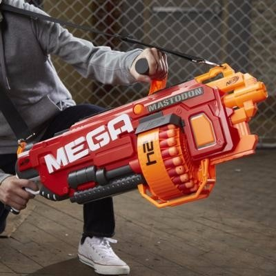 Nerf N Strike Elite Mega Centurion Blaster Gun Long Range Toy With Magazine  Clip