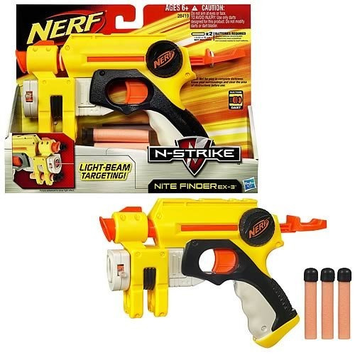 nerf n-strike nite finder con laser poderosa