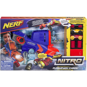 Nerf Fury Caos Autos Flash 3 Nitro Lanzador Multi Shot n0wOPk