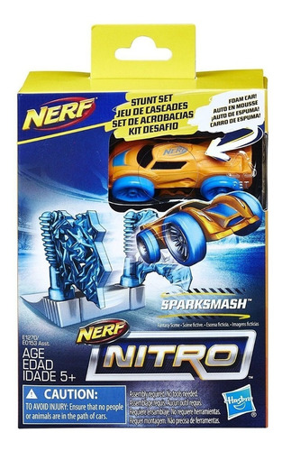 nerf nitro set de acrobacias sparksmash envio full (1457)