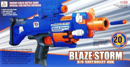 nerf pistola automatic dardos blazestorm juguete 20 pcs niño