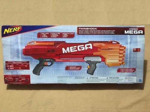 nerf: pistola twinshock 10 dardos n-strike mega hasbro