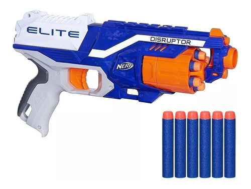 nerf pistolas arma juguete n strike disruptor elite+ dardos