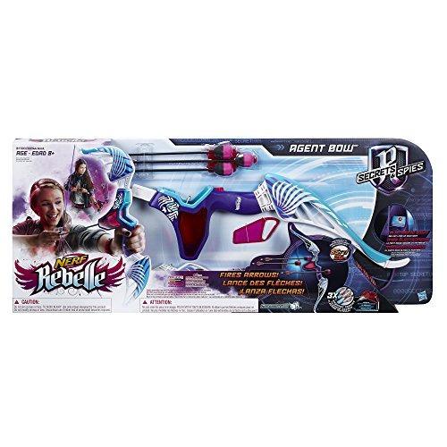 nerf rebelle agent bow  púrpura y verde azulado