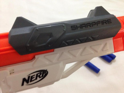 nerf sharpfire 3 dardos pouco uso hasbro falta cabo ler tudo