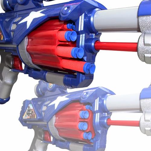 nerf soft metralhadora 52cm homem aranha homem de ferro dard