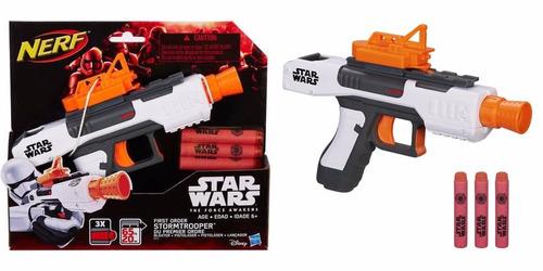 nerf stormtrooper star wars con 3 dardos