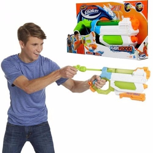 nerf super soaker flash flood  a9466 pistola agua juguete