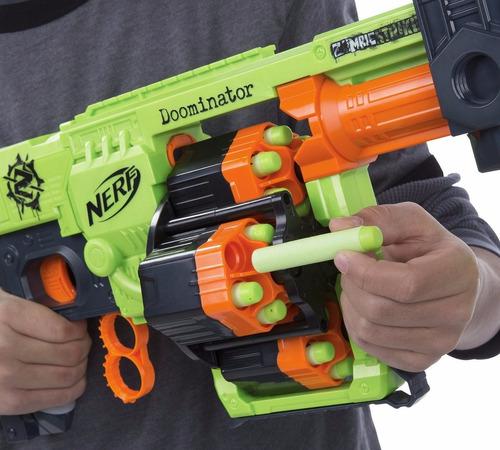 nerf zombie strike doominator b1533 hasbro - pronta entrega