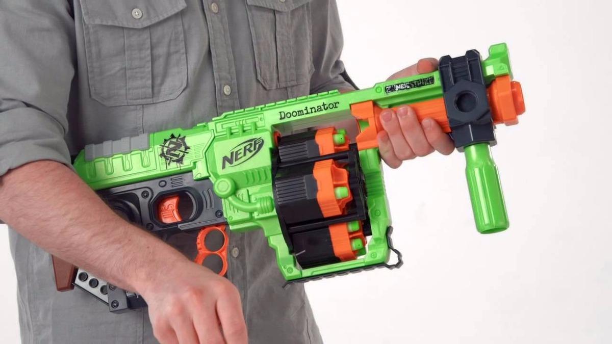 Nerf Zombie Strike Doominator Gun Blaster Gun Looks And Works Great Fast  Ship