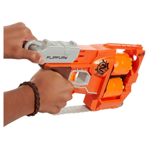nerf zombie strike flipfury blaster pistola arma para hoyyyy