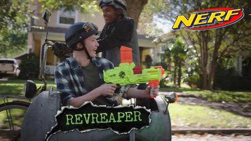 nerf zombie strike revreaper lanzador original juguetería