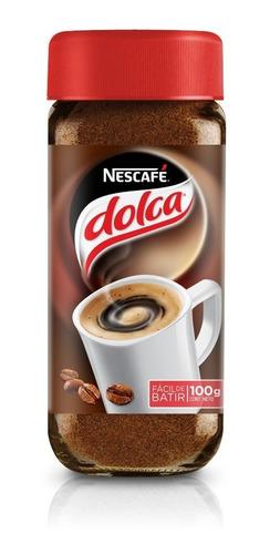 nescafe dolca 100g cafe instantaneo sin grumos unidad x6