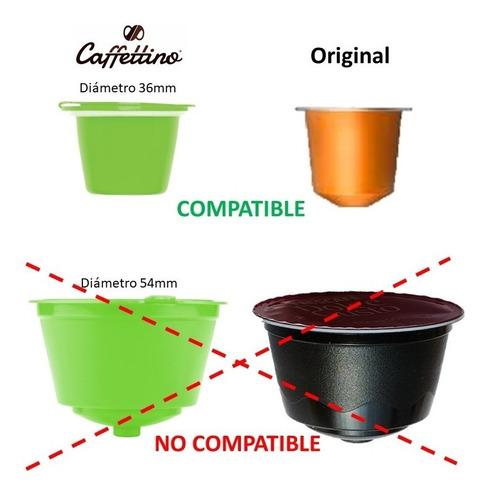 nespresso 4 capsulas recargables caffettino - ecologicas