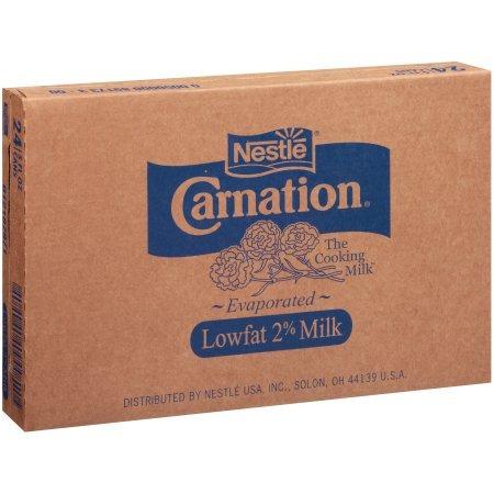 nestlé carnation baja en grasa 2% de leche evaporada 24-5 fl