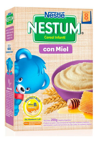 nestum cereal infantil con miel +6m x 200 gr