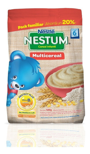 nestum multicereal cereal infantil x 500g nestlé oficial