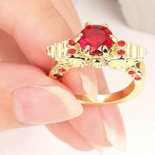 @net aro 17 anel samurai imperial rubi 3 banhos ouro 268 c