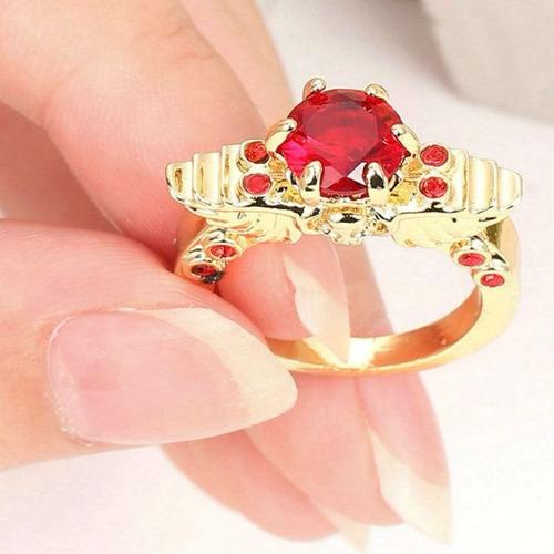 @net aro 18,5 anel samurai imperial rubi 3 banhos ouro 268 c