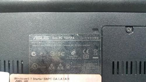 netbook asus com defeito na placa mãe sem memória e hd