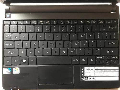netbook gateway 10.1 , intel atom n2600, 2gb ram, disco 320g
