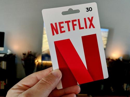 netflix giftcard 4 pantallas 4k  recargo tu cuenta x 1mes