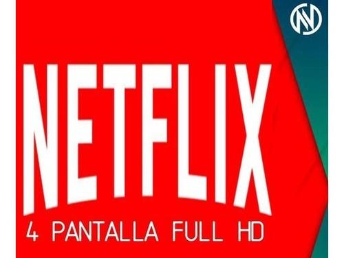 netflix giftcard tarjeta 4k 4 pantallas 30 dias