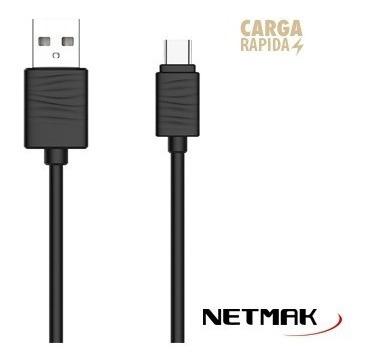 netmak cable usb a usb tipo c nm-119w 2a carga rapida