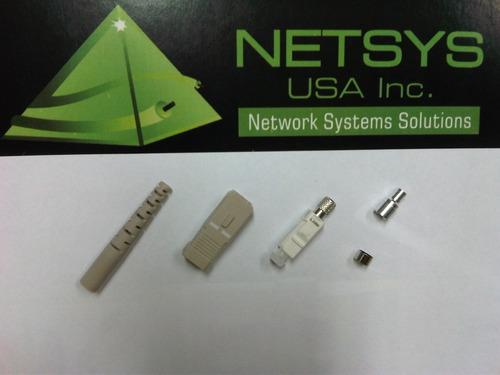 netsys conector sc para fibra optica monomodo 9/125 o 10/125