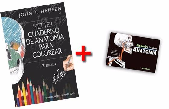 Netter Cuaderno Anatomia Colorear + Melloni Anat Combo ...