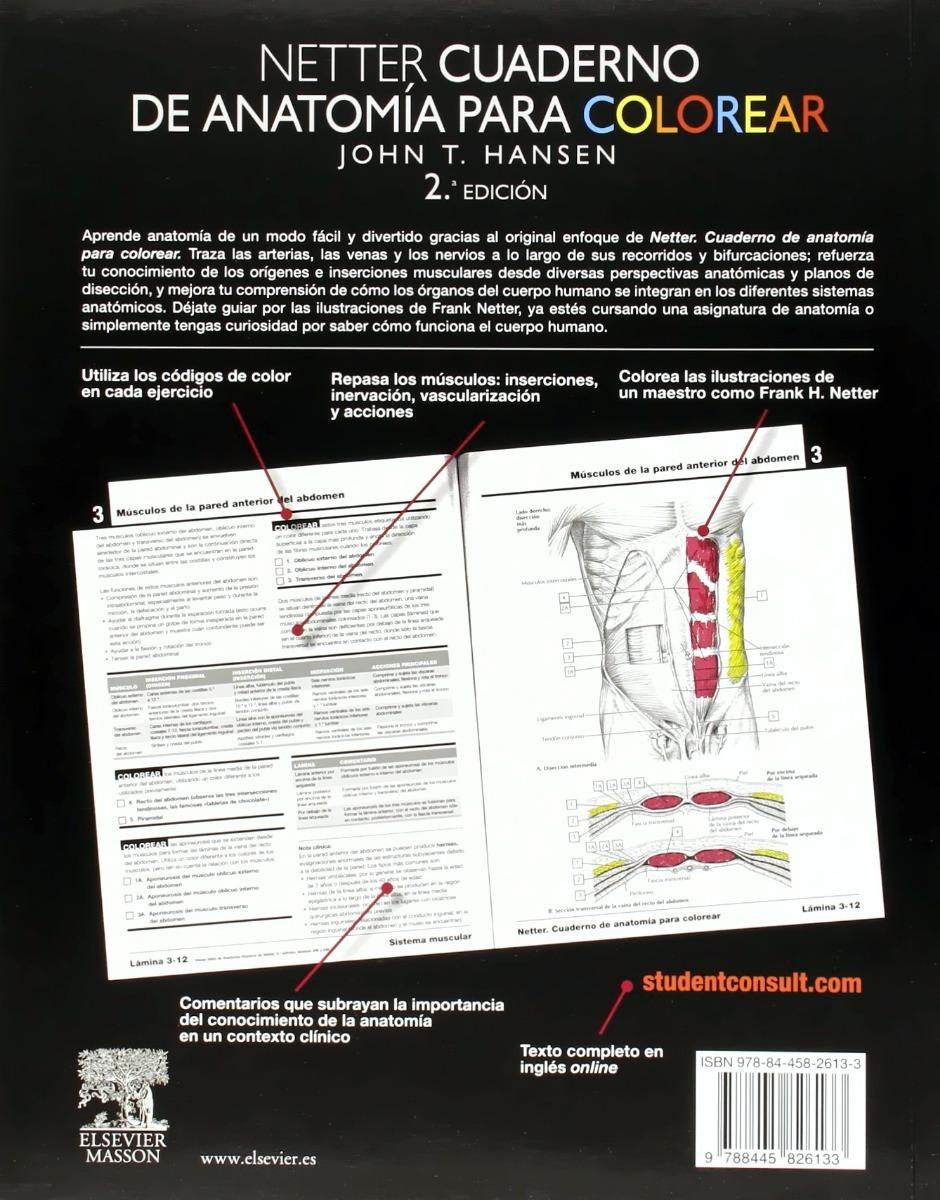 Netter Cuaderno De Anatomía Para Colorear T. Hansen Elsevier ...
