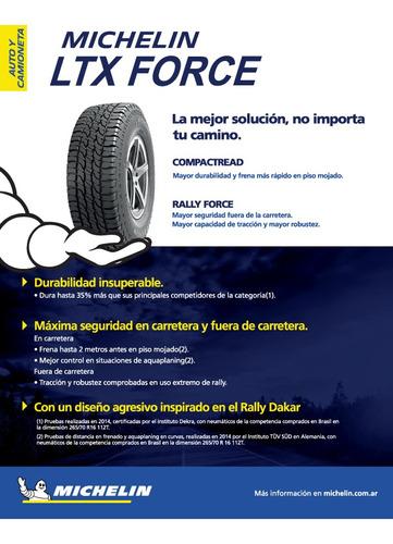 neumático 265/70-15 michelin ltx force 112t