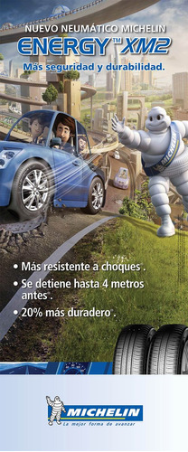 neumático de auto michelin 185/55 r15 energy xm2+ 86v