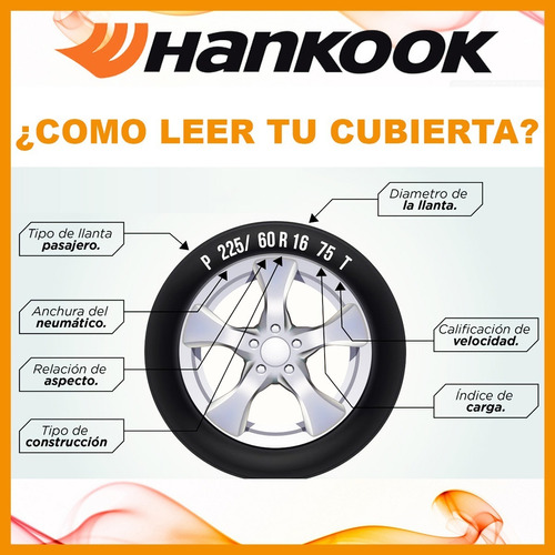neumatico hankook 225/50/16 ventus v12 evo2 + envios oferta