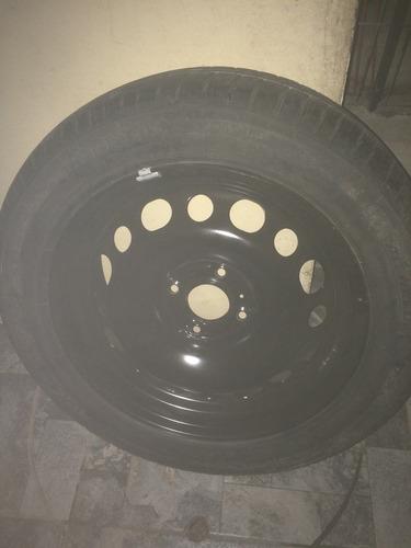 neumático más llanta fierro para peugeot 208