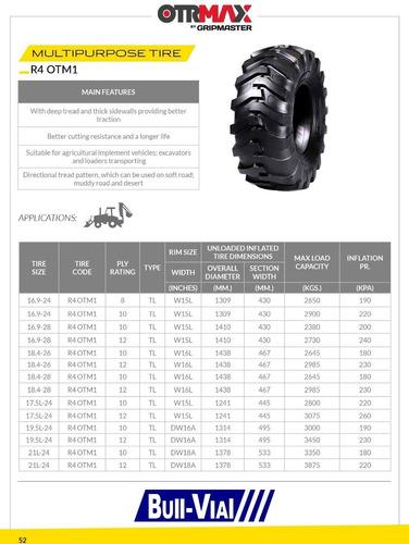 neumatico otrmax 19.5l-24 12pr tl r4 otm1