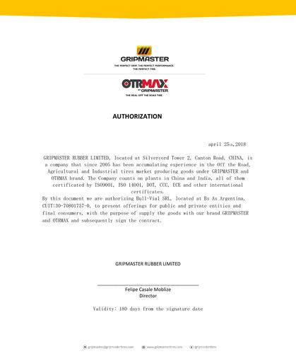 neumatico otrmax 20.5/70 16 10pr tt e3/l3 otm1