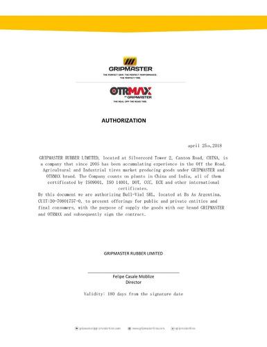 neumatico otrmax 8.25 16 10pr tt e3/l3 otm1