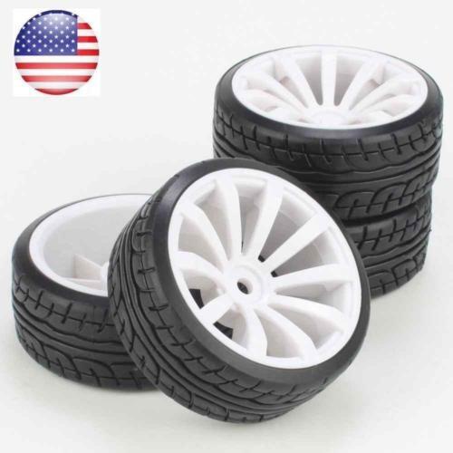 neumáticos con llantas de 10 radios de blanco para rc 1:10 n