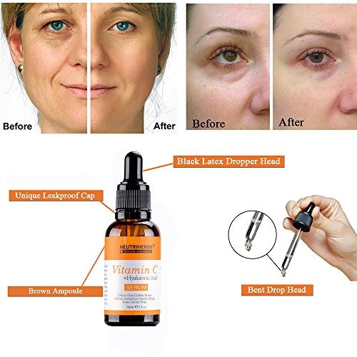 neutriherbs natural suero de vitamina c para la cara 20% sue