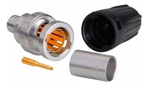 neutrik nbnc75blp9 ficha conector bnc a cable 75 ohm hd sdi