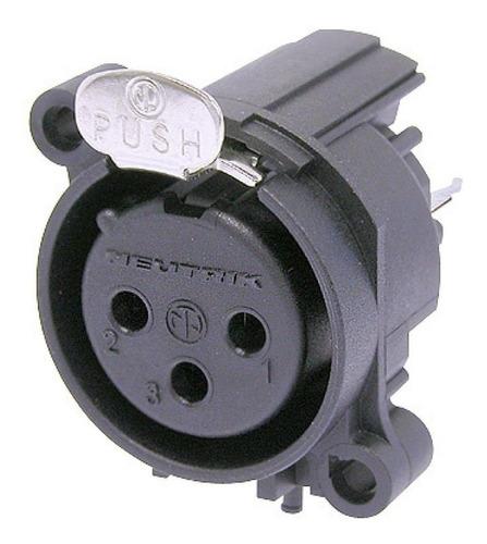 neutrik nc3fav2 ficha conector xlr canon hembra chasis 3pin
