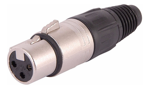 neutrik nc3fx conector ficha xlr canon hembra cable 3 pines