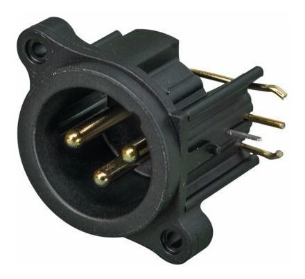 neutrik nc3mahr ficha conector xlr canon macho chasis 3 pin