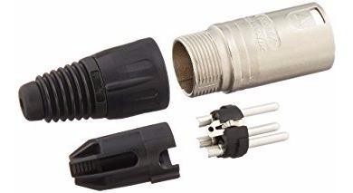neutrik nc3mx ficha conector xlr canon macho a cable 3 pines